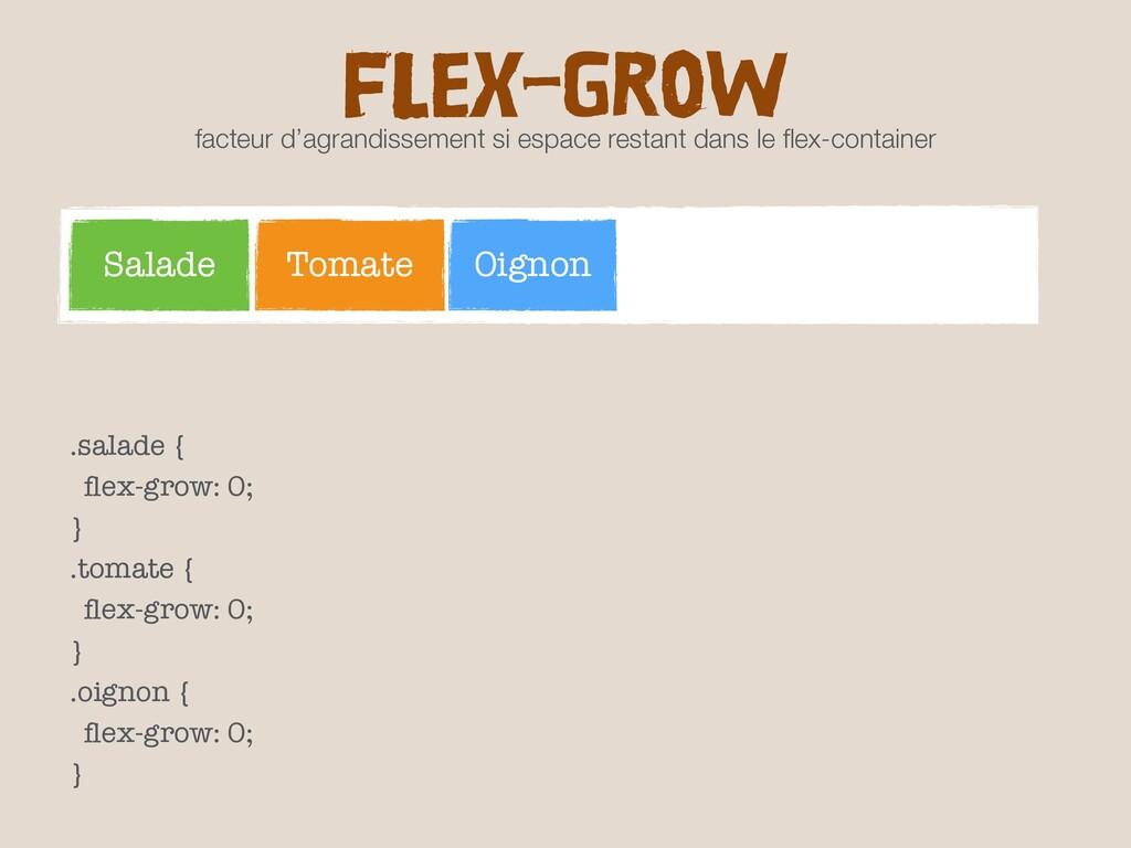 FLEX-GROW facteur d'agrandissement si espace re...