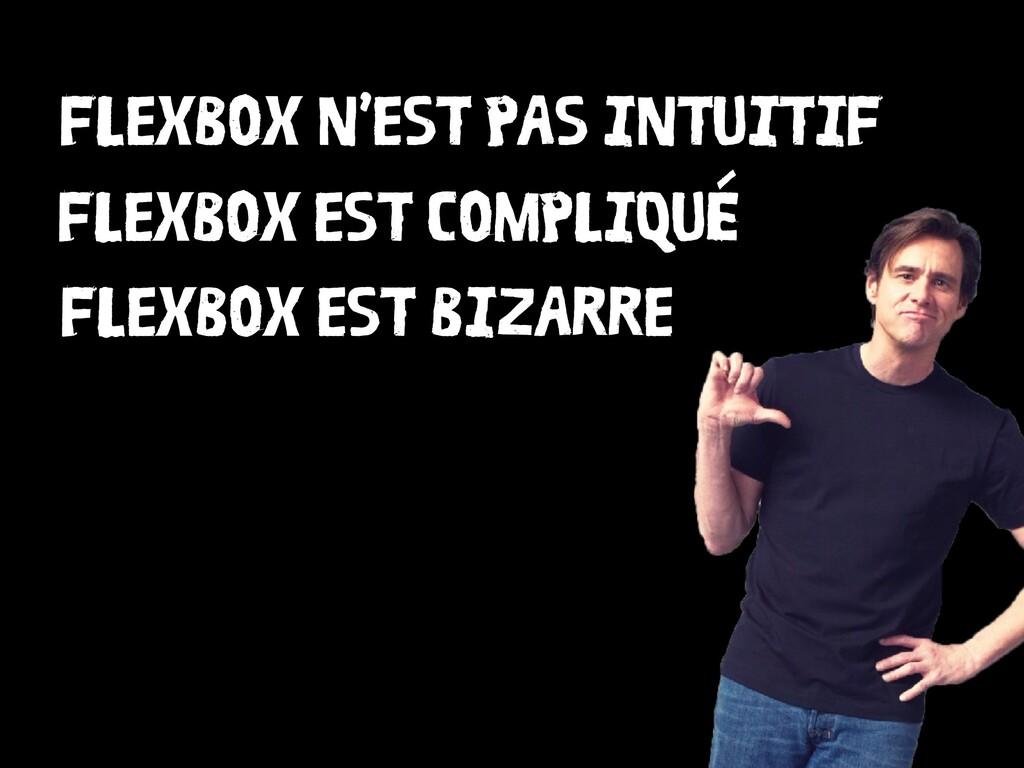FLEXBOX N'EST PAS INTUITIF FLEXBOX EST COMPLIQU...