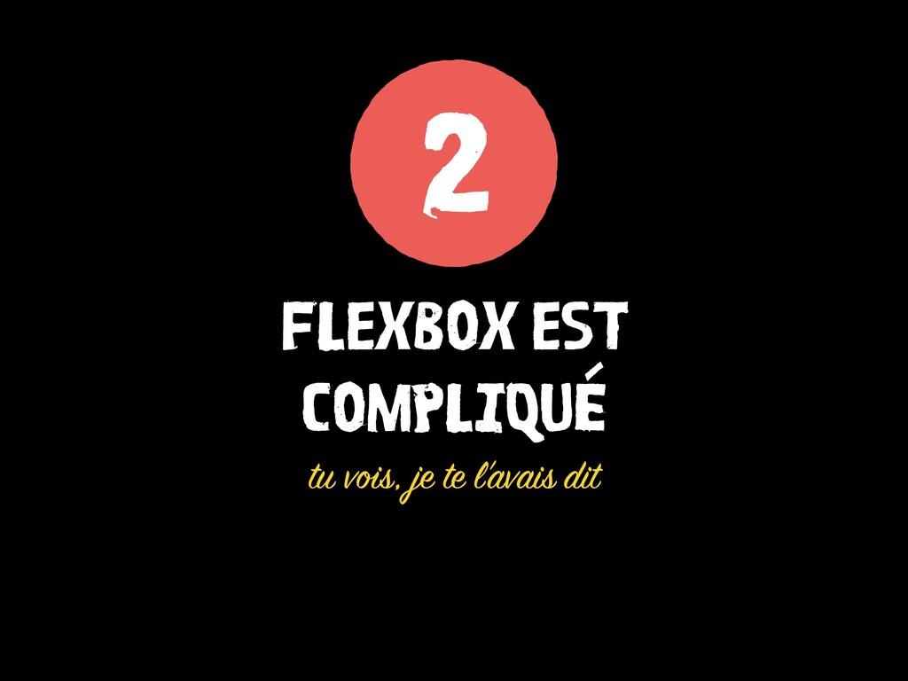 FLEXBOX EST COMPLIQUÉ tu vois, je te l'avais di...