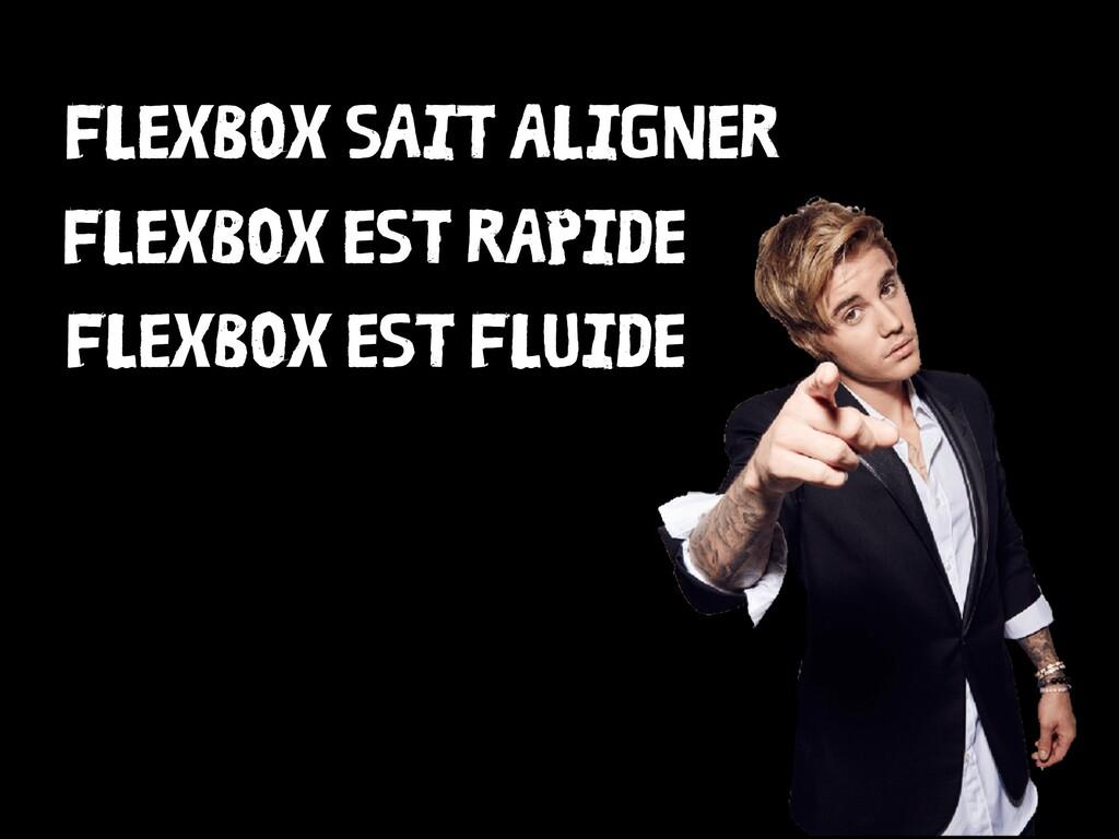 FLEXBOX SAIT ALIGNER FLEXBOX EST RAPIDE FLEXBOX...