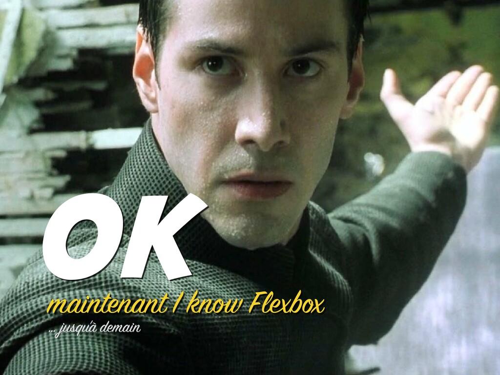 maintenant I know Flexbox OK … jusqu'à demain