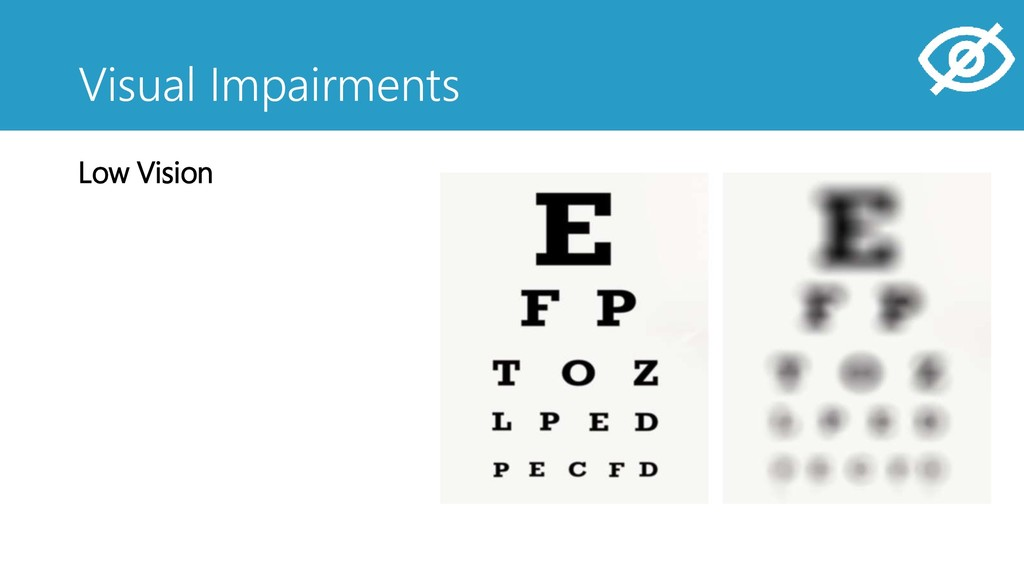 Visual Impairments Low Vision