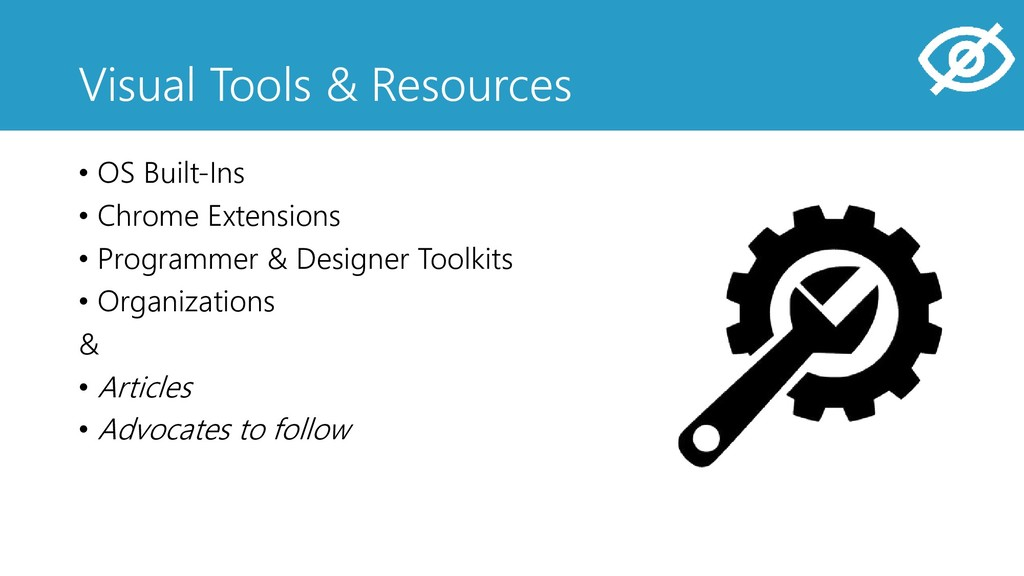 Visual Tools & Resources • OS Built-Ins • Chrom...