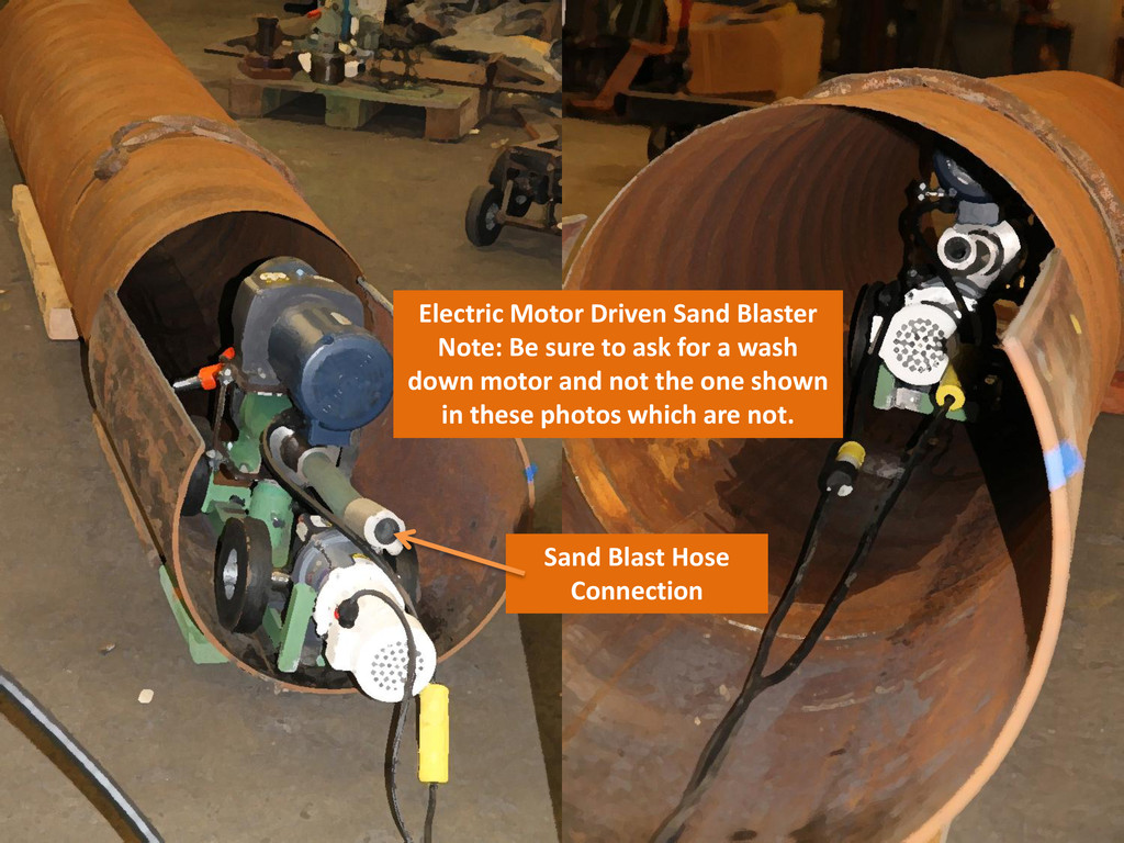 Electric Motor Driven Sand Blaster Note: Be sur...