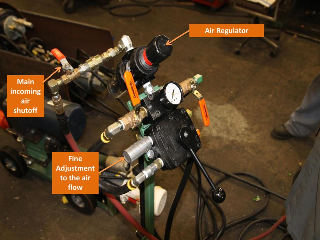 Air Regulator Fine Adjustment to the air flow