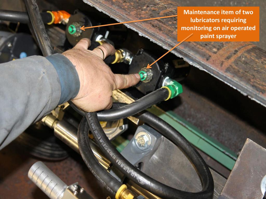 Maintenance item of two lubricators requiring m...