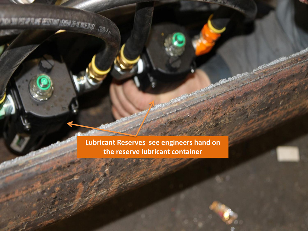 Lubricant Reserves see engineers hand on the re...