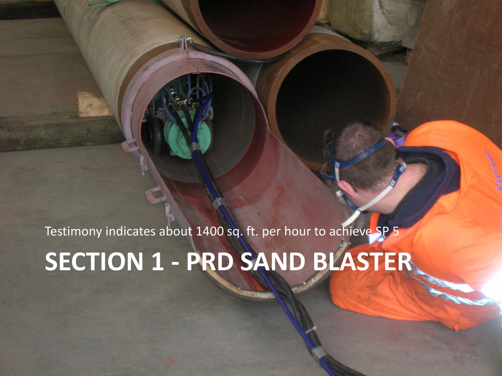 SECTION 1 - PRD SAND BLASTER Testimony indicate...