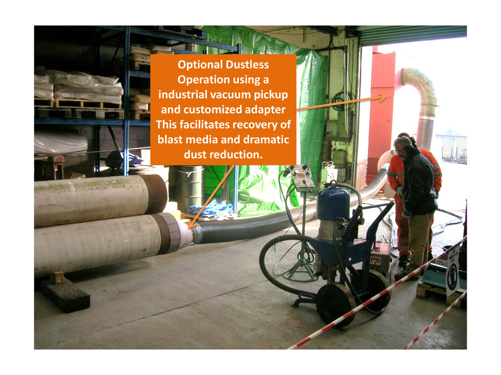 Optional Dustless Operation using a industrial ...