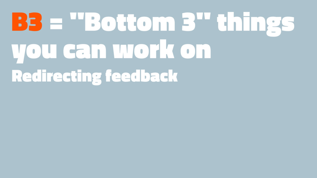 "B3 = ""Bottom 3"" things you can work on Redirect..."