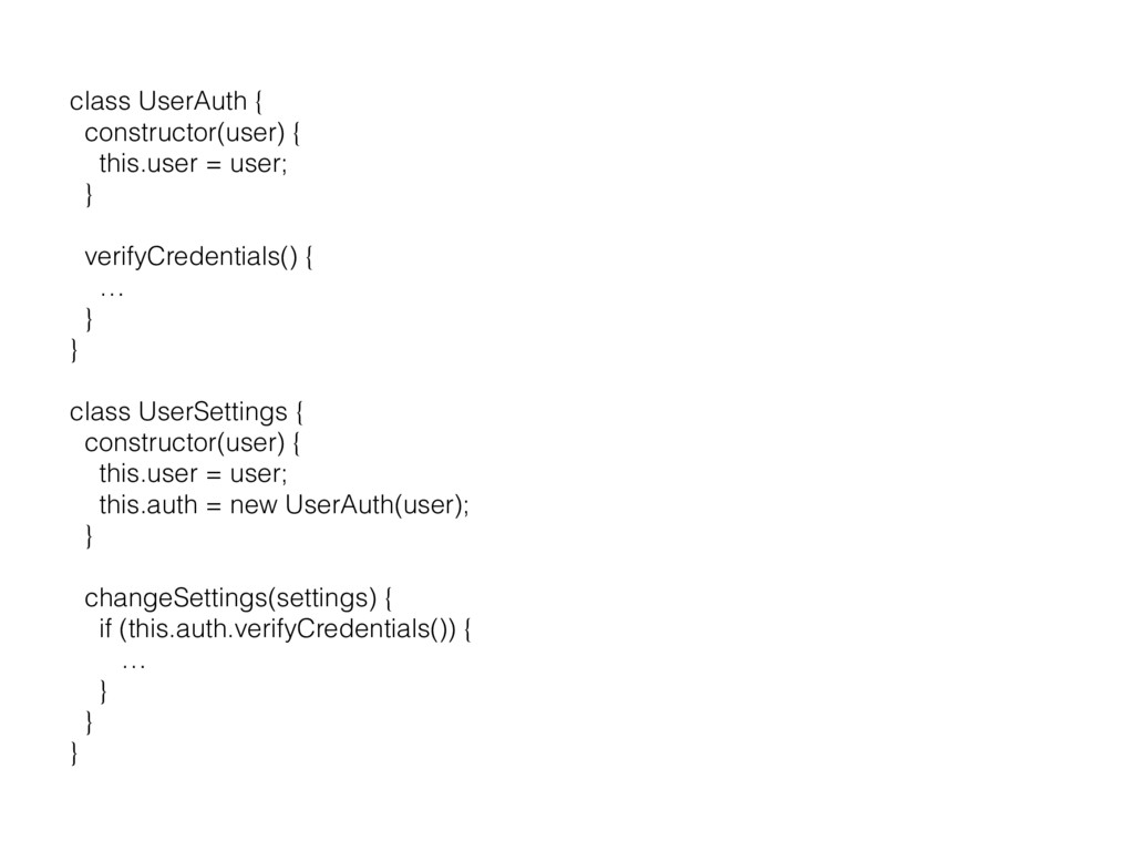 class UserAuth { constructor(user) { this.user ...