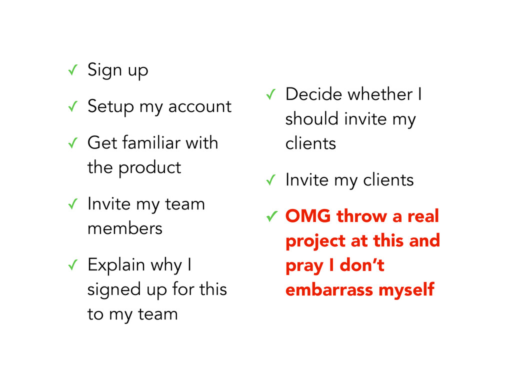 ✓ Sign up ✓ Setup my account ✓ Get familiar wit...