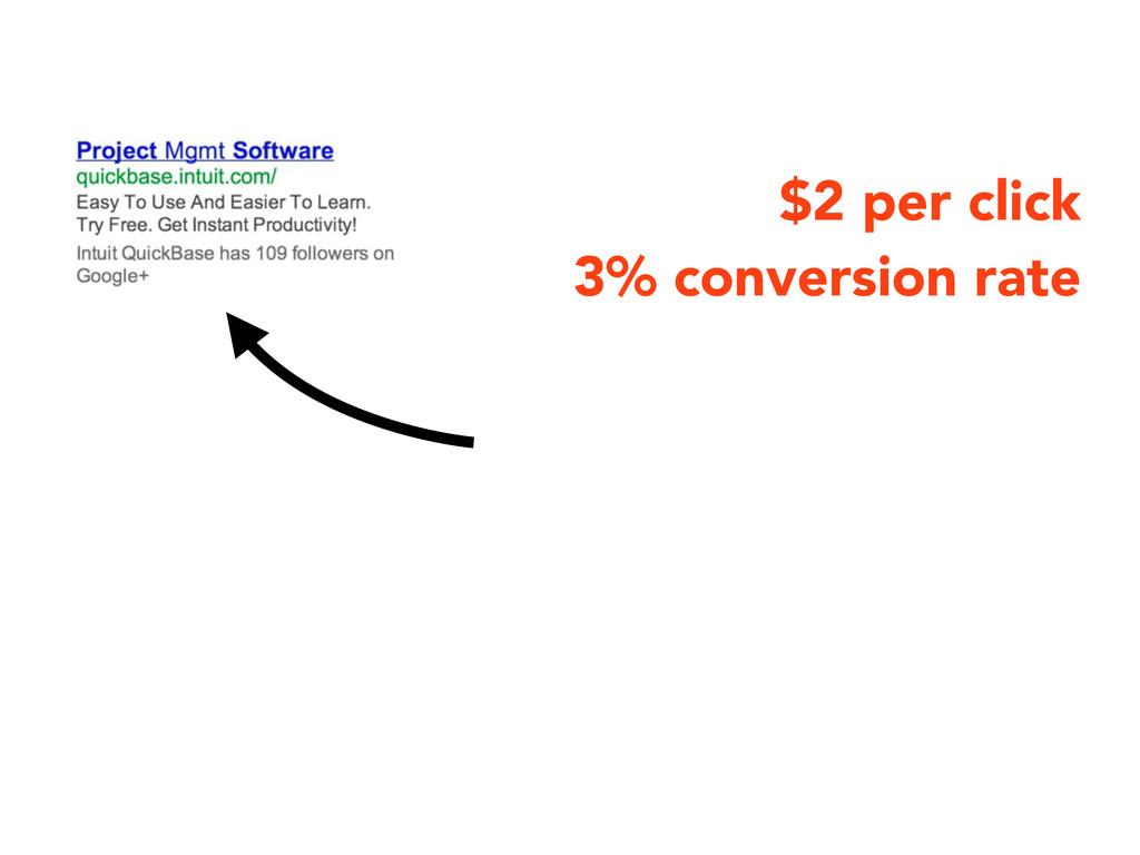 $2 per click 3% conversion rate
