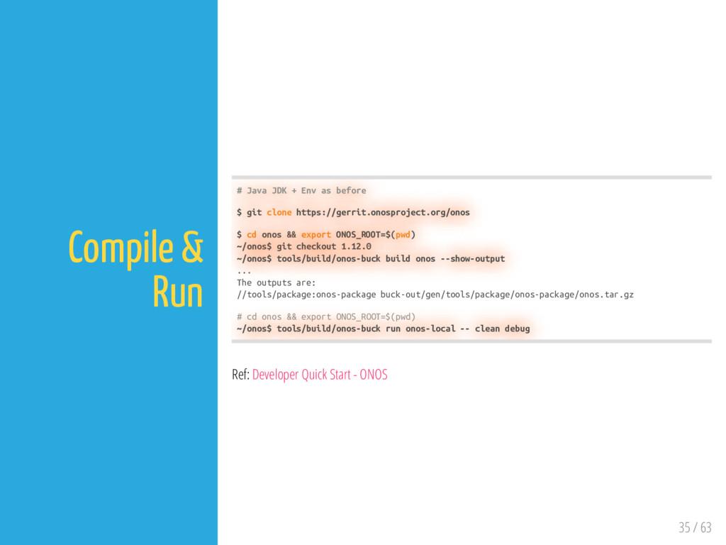 35 / 63 Compile & Run # Java JDK + Env as befor...