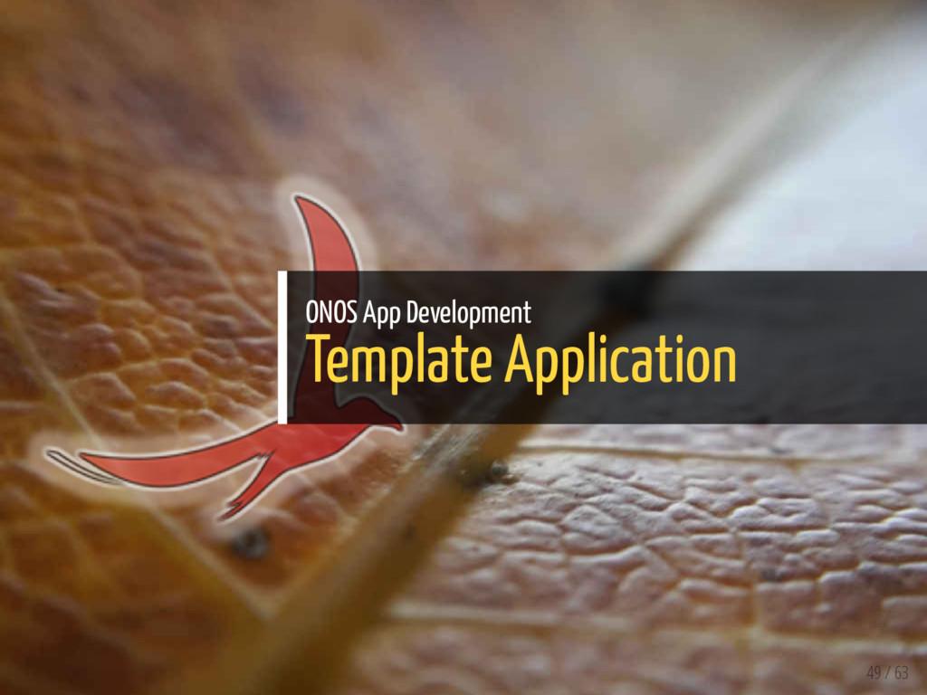 ONOS App Development Template Application 49 / ...