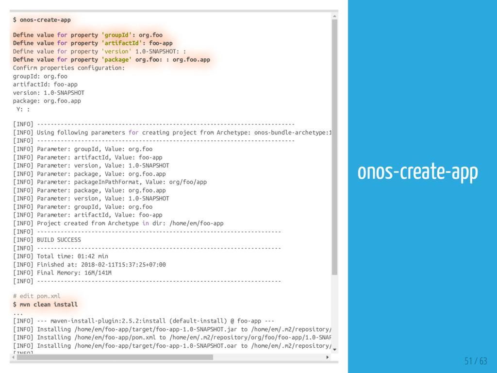 $ onos-create-app Define value for property 'gr...