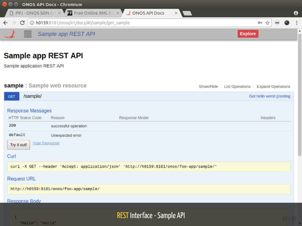 REST Interface - Sample API 60 / 63