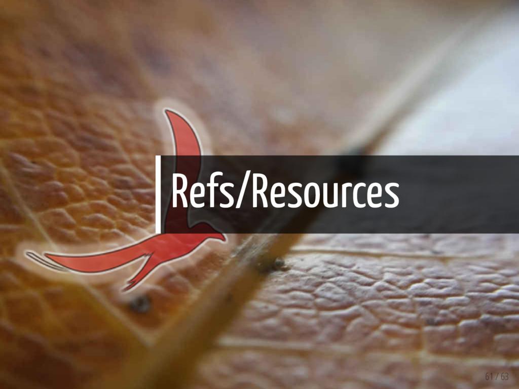 Refs/Resources 61 / 63