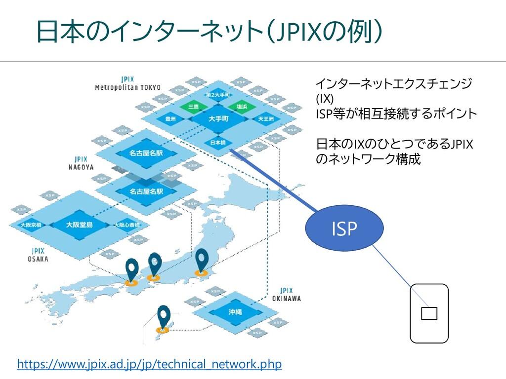 日本のインターネット(JPIXの例) https://www.jpix.ad.jp/jp/te...