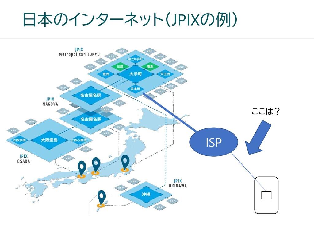 日本のインターネット(JPIXの例) ISP ここは?