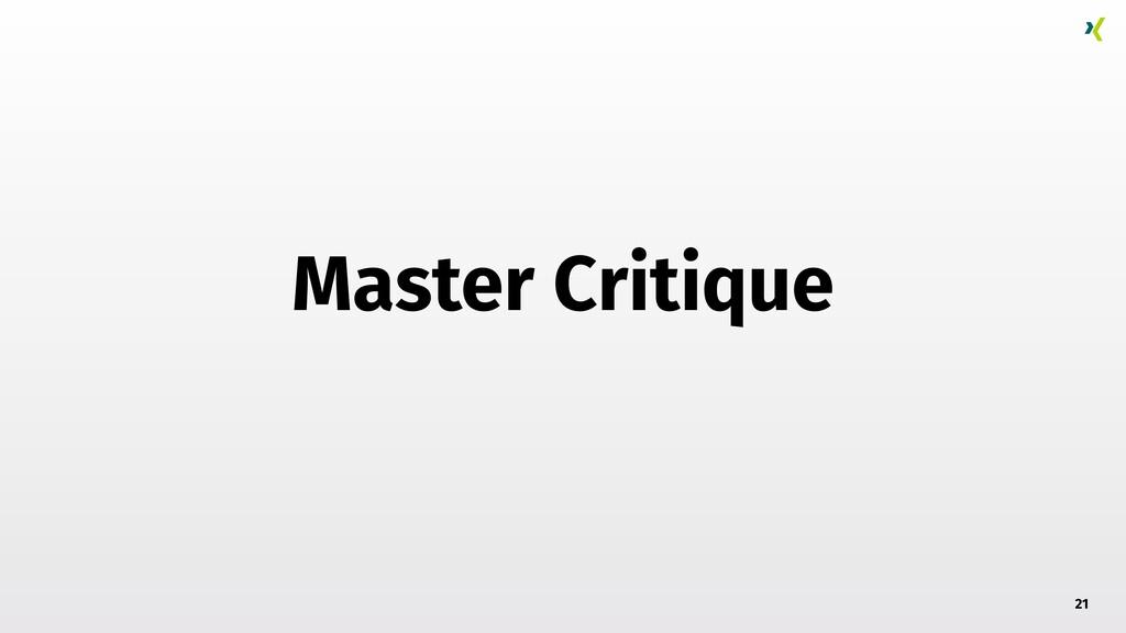 Master Critique 21