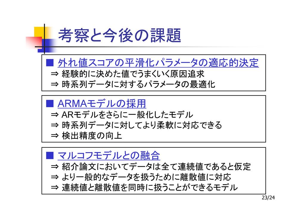 23/24 ■ ⇒ ⇒ ■ ARMA ⇒ AR ⇒ ⇒ ■ ⇒ ⇒ ⇒
