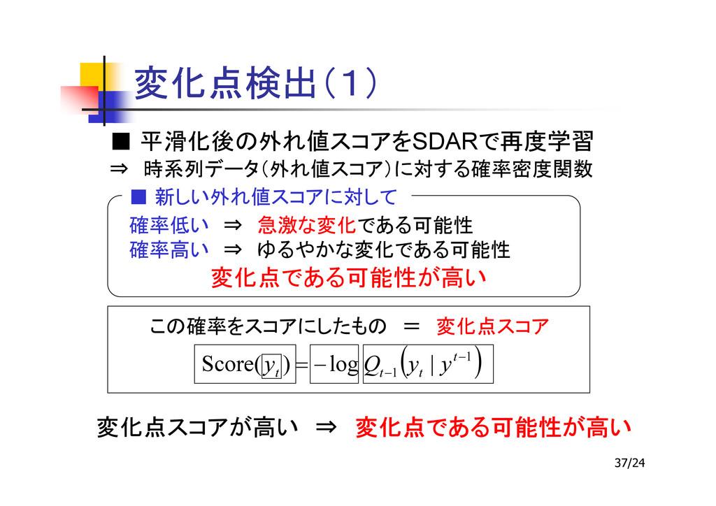 37/24 ■ SDAR ⇒ ■ ⇒ ⇒ ( ) 1 1 | log ) ( Score − ...