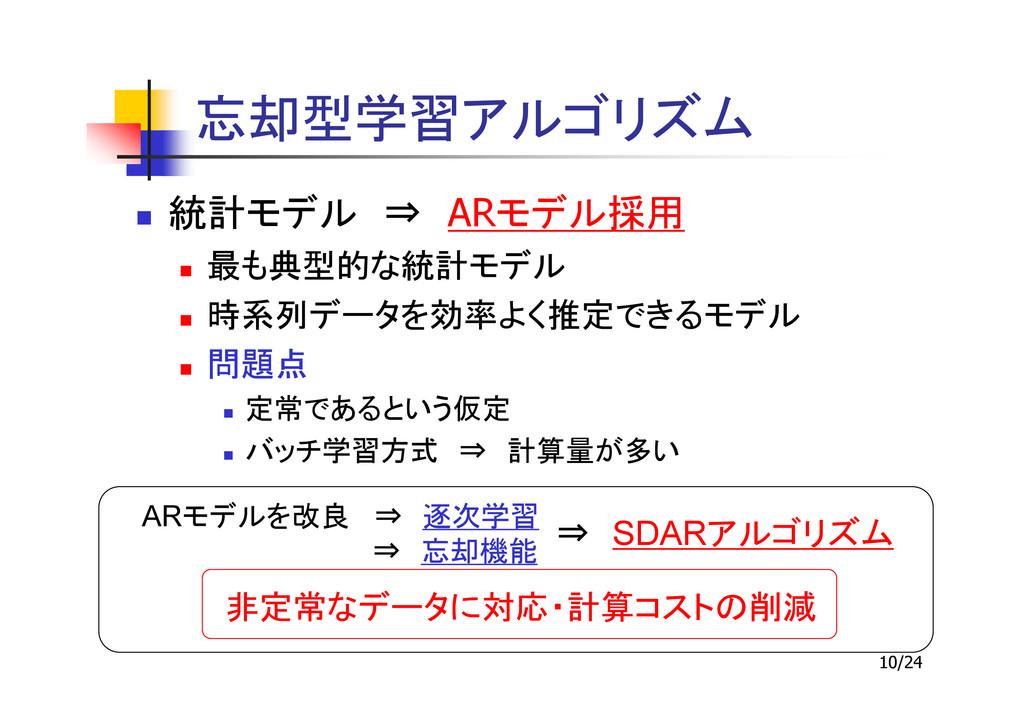 10/24 ⇒ AR ⇒ AR ⇒ ⇒ ⇒ SDAR