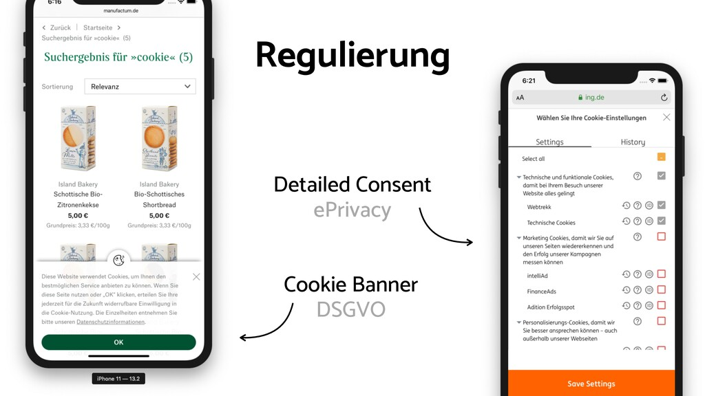 Cookie Banner DSGVO Detailed Consent ePrivacy R...