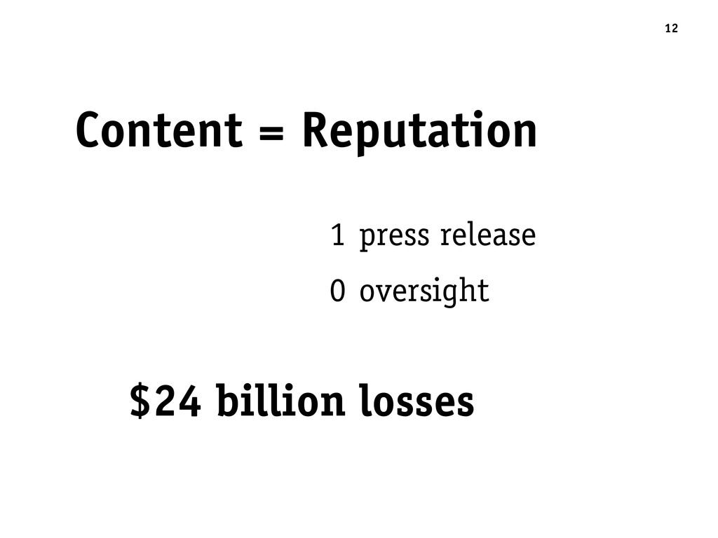 Content = Reputation 12 1 press release 0 overs...