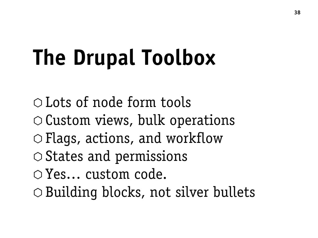 The Drupal Toolbox ⬡ Lots of node form tools ⬡ ...