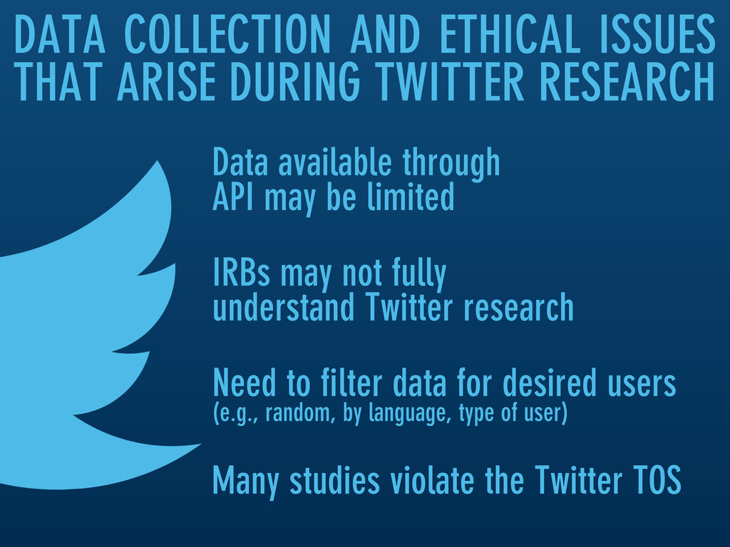 DATA COLLECTION AND ETHICAL ISSUES THAT ARISE D...