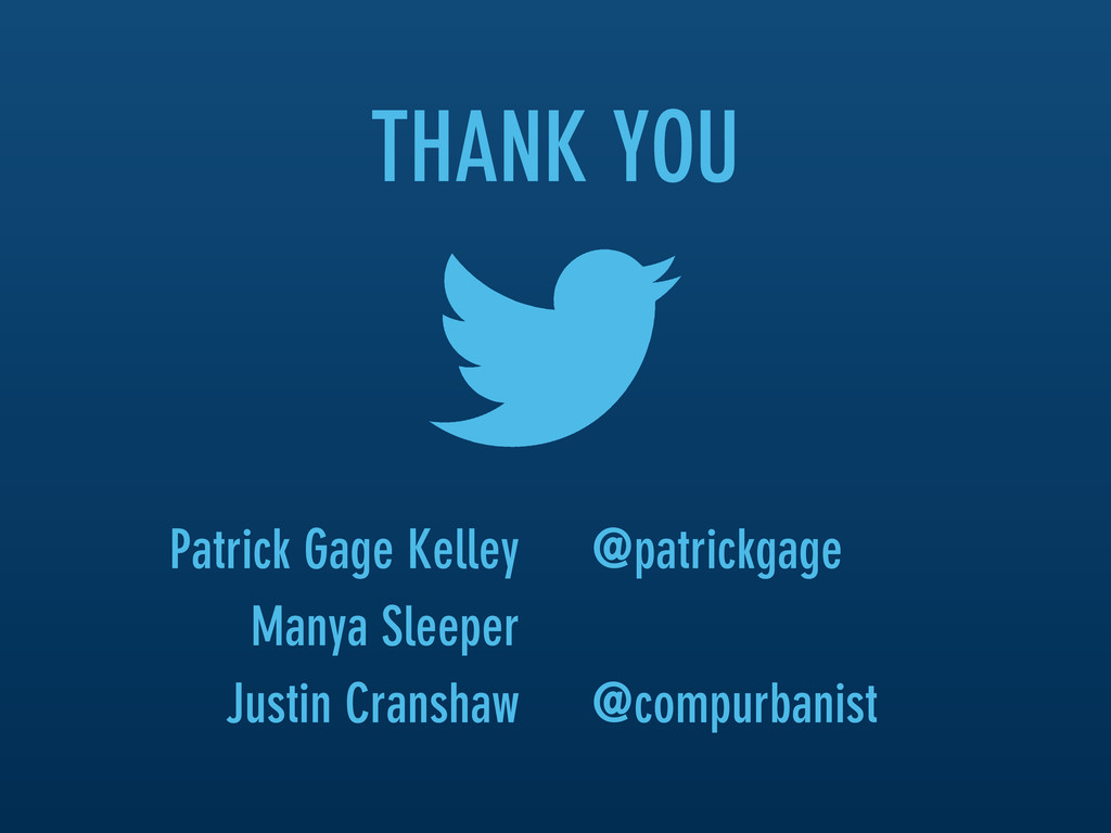 THANK YOU @patrickgage @compurbanist Patrick Ga...