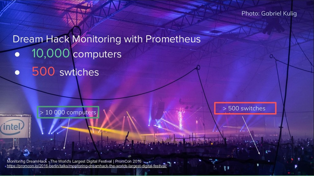 Dream Hack Monitoring with Prometheus ● 10,000 ...