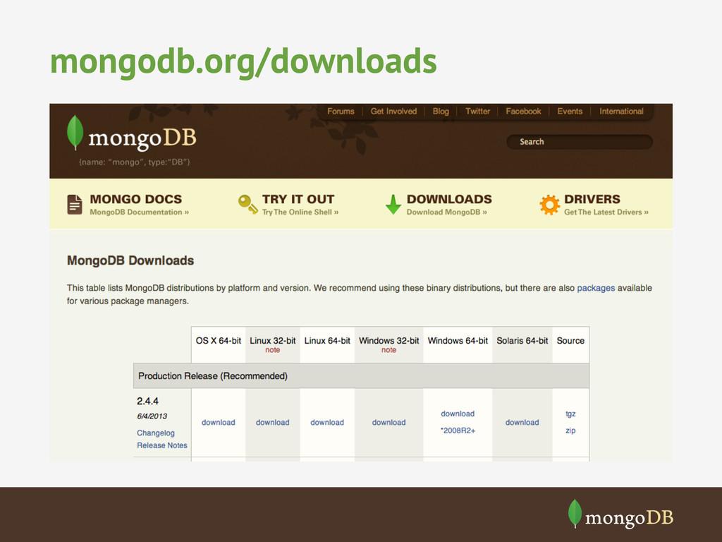 mongodb.org/downloads