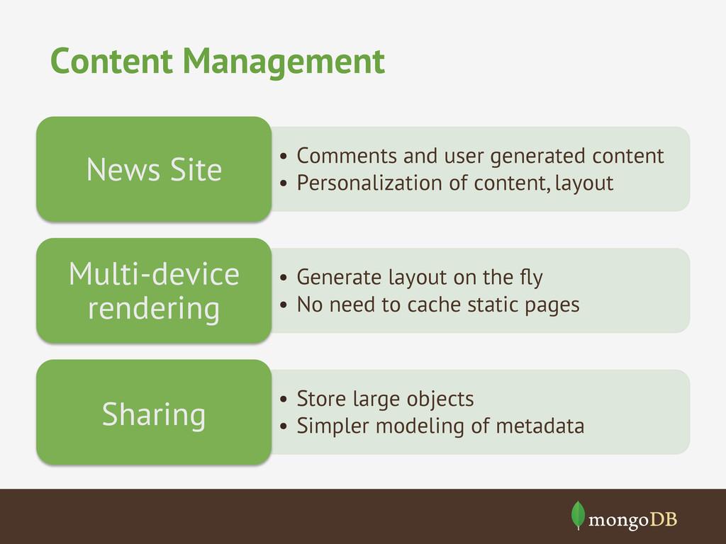 Content Management • Comments and user generat...