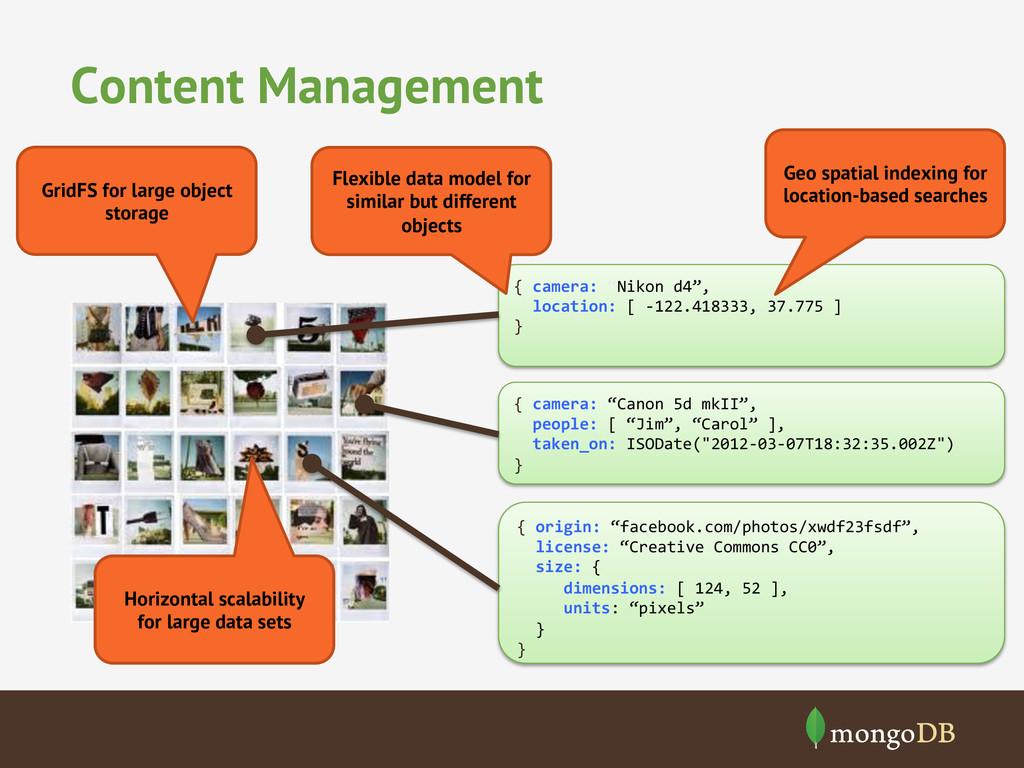 """Content Management { camera: """"Nikon d4..."""