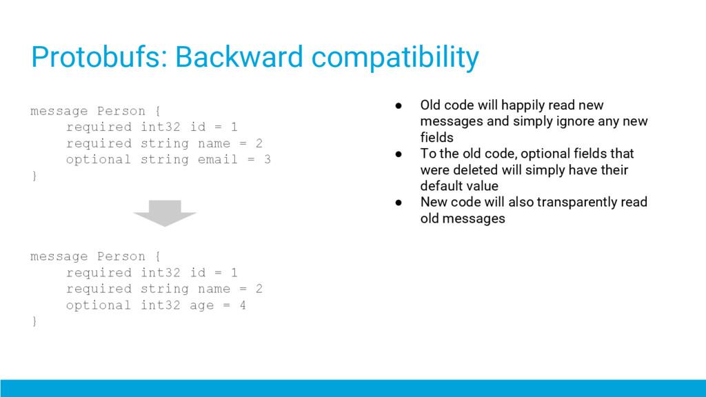 Protobufs: Backward compatibility message Perso...