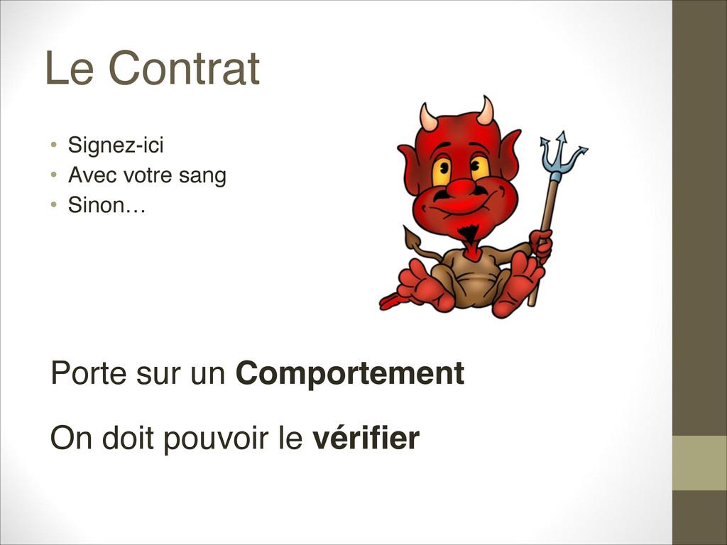Le Contrat • Signez-ici • Avec votre sang • S...