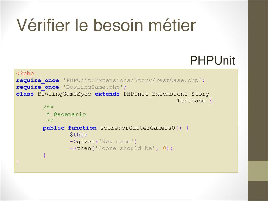 Vérifier le besoin métier <?php require_once 'P...