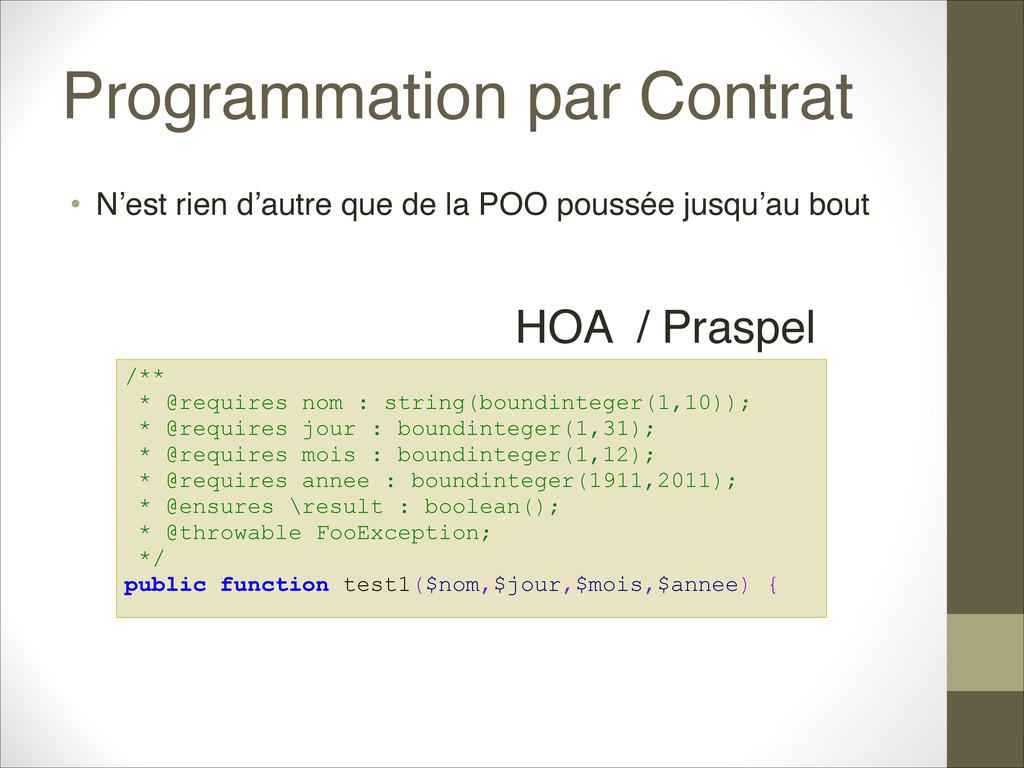 Programmation par Contrat • N'est rien d'autre ...