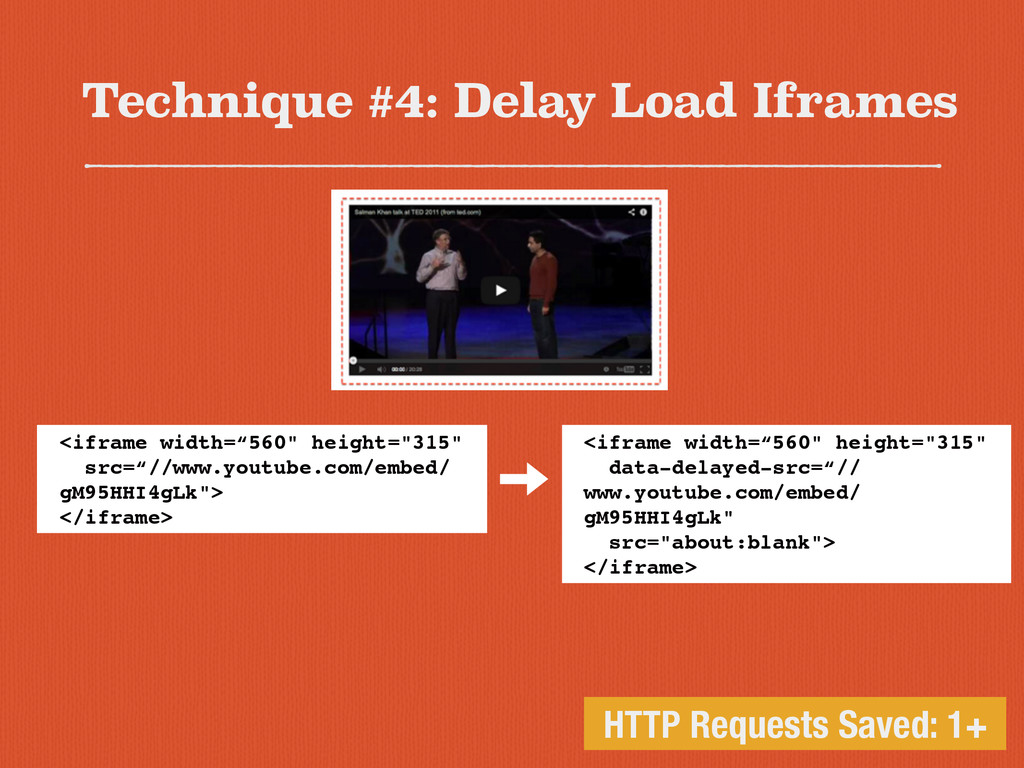 Technique #4: Delay Load Iframes HTTP Requests ...