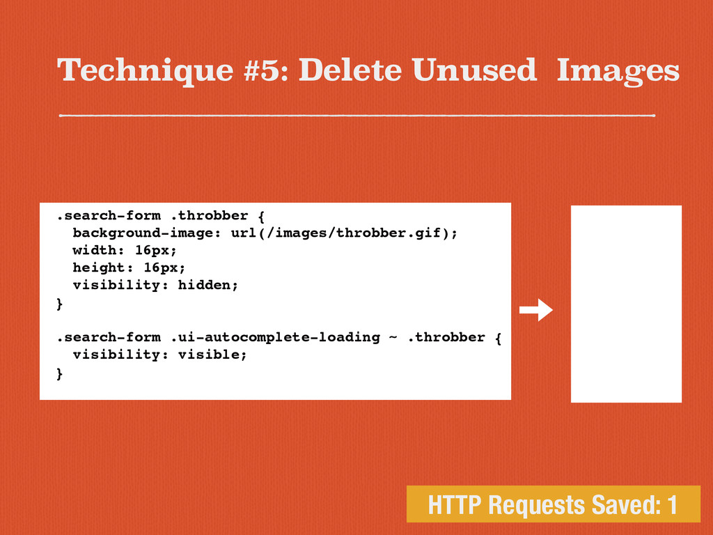 Technique #5: Delete Unused Images HTTP Request...