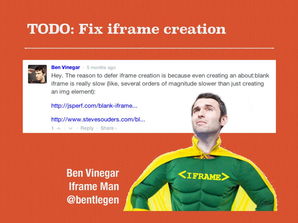 TODO: Fix iframe creation Ben Vinegar Iframe Ma...