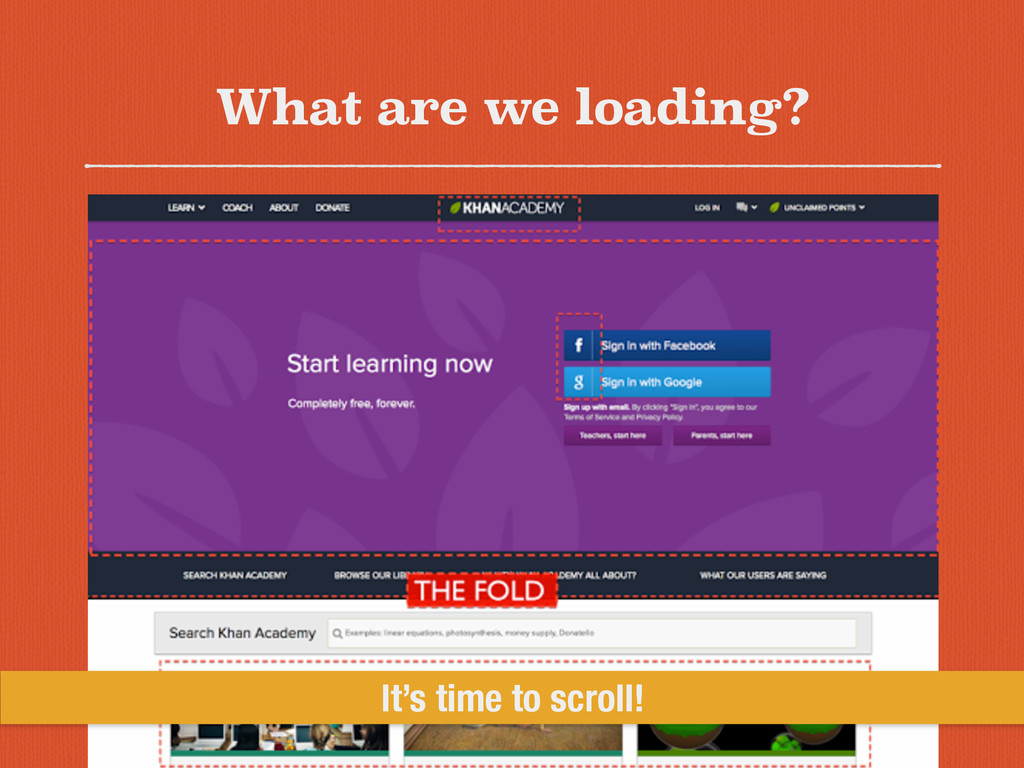 What are we loading? It's time to scroll!