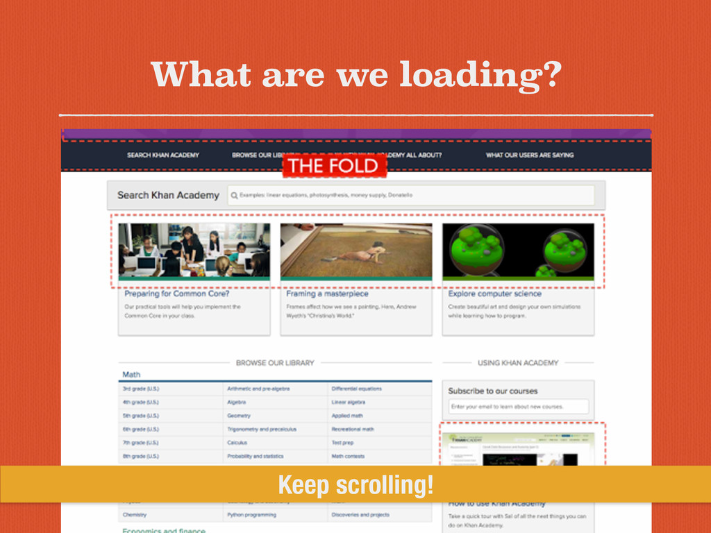 What are we loading? Keep scrolling!