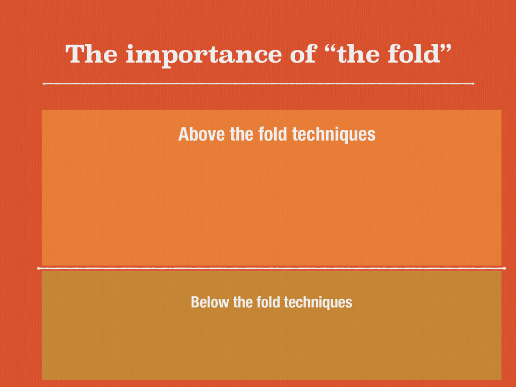 "The importance of ""the fold"" Below the fold tec..."