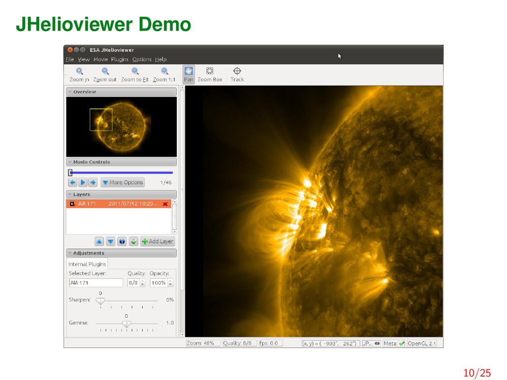 JHelioviewer Demo 10/25