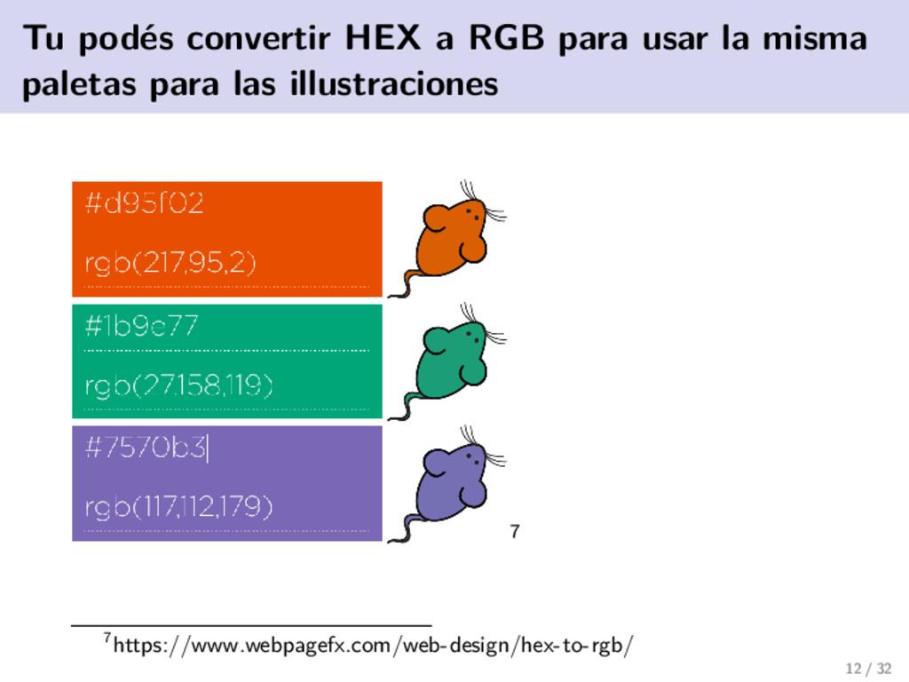 Tu podés convertir HEX a RGB para usar la misma...