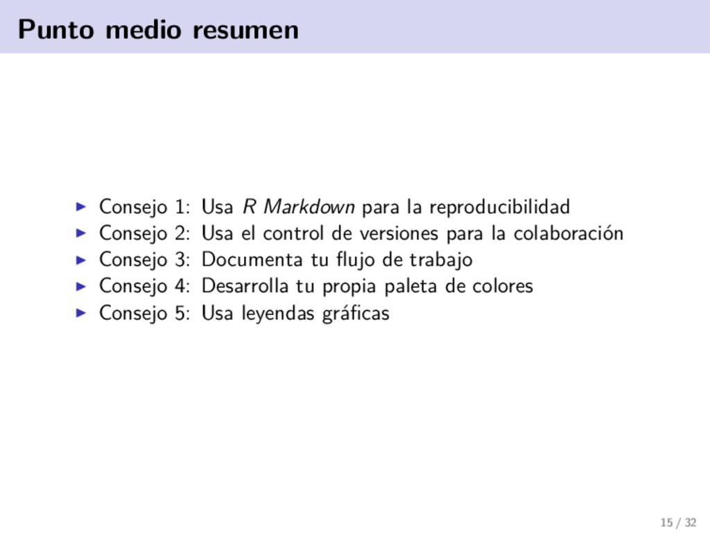 Punto medio resumen Consejo 1: Usa R Markdown p...